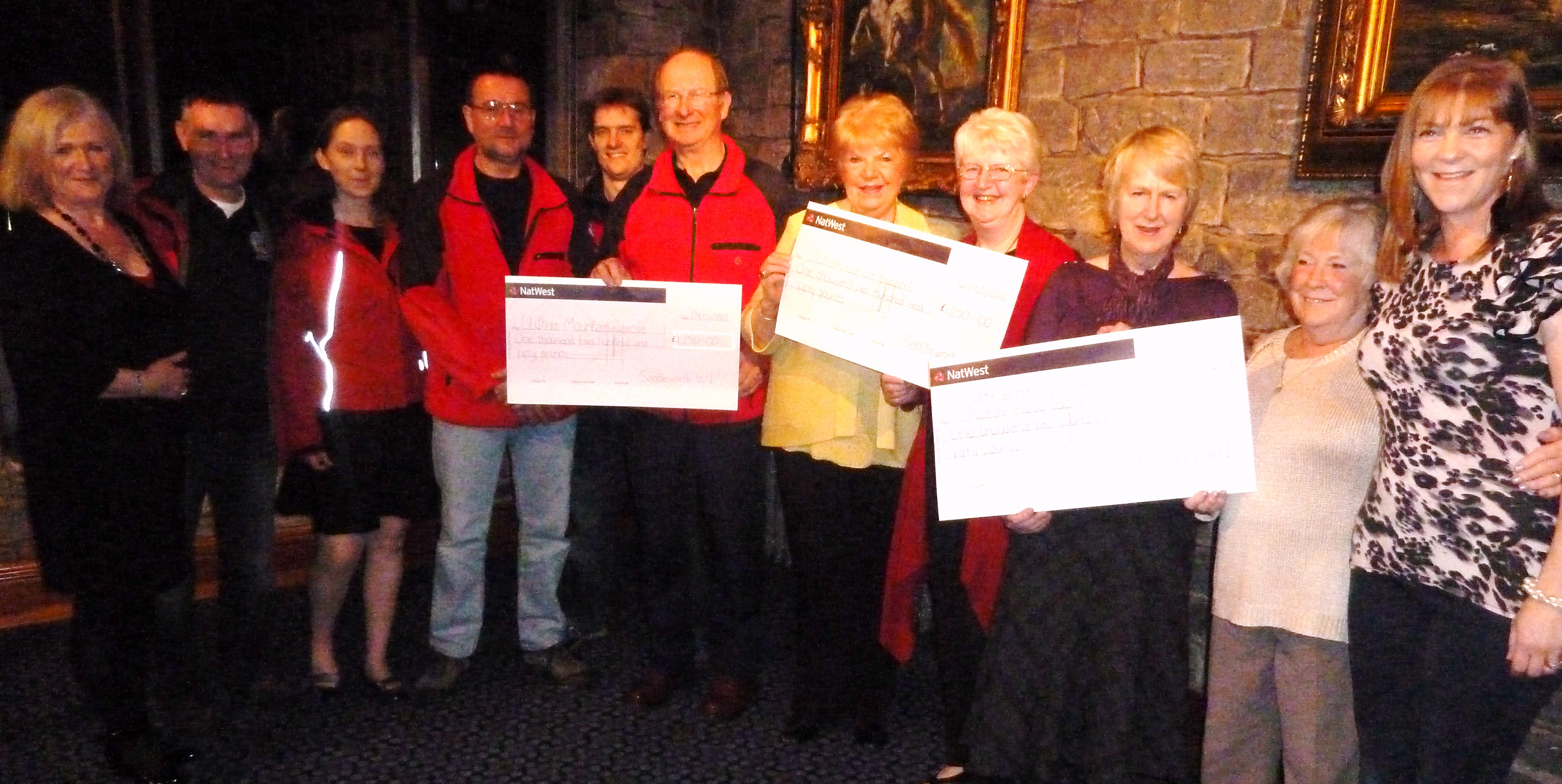 WI presentation of cheques to local good causes