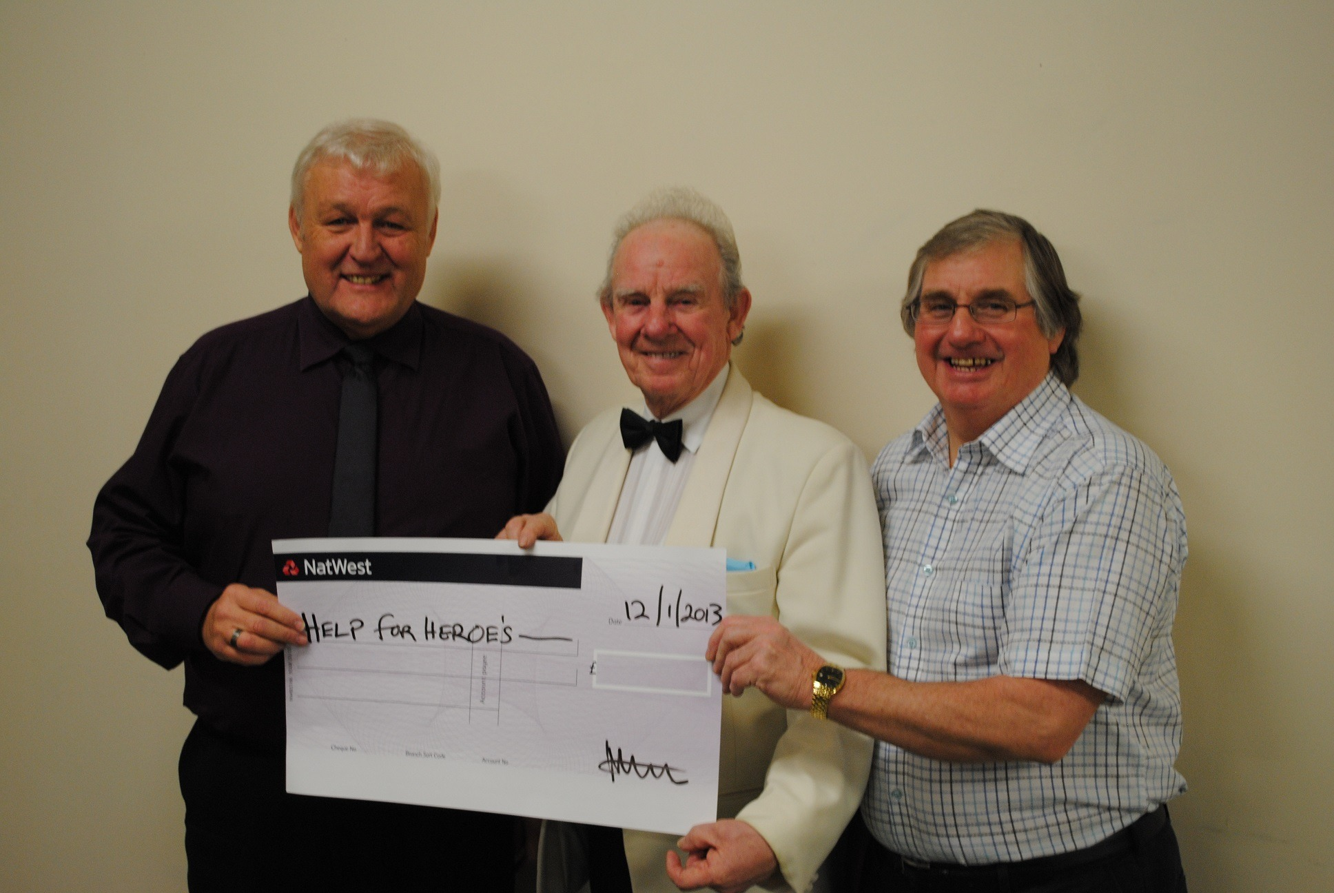 FUNDRAISERS: Phil Beckwith, Derek Broadbent and Gilbert Symes