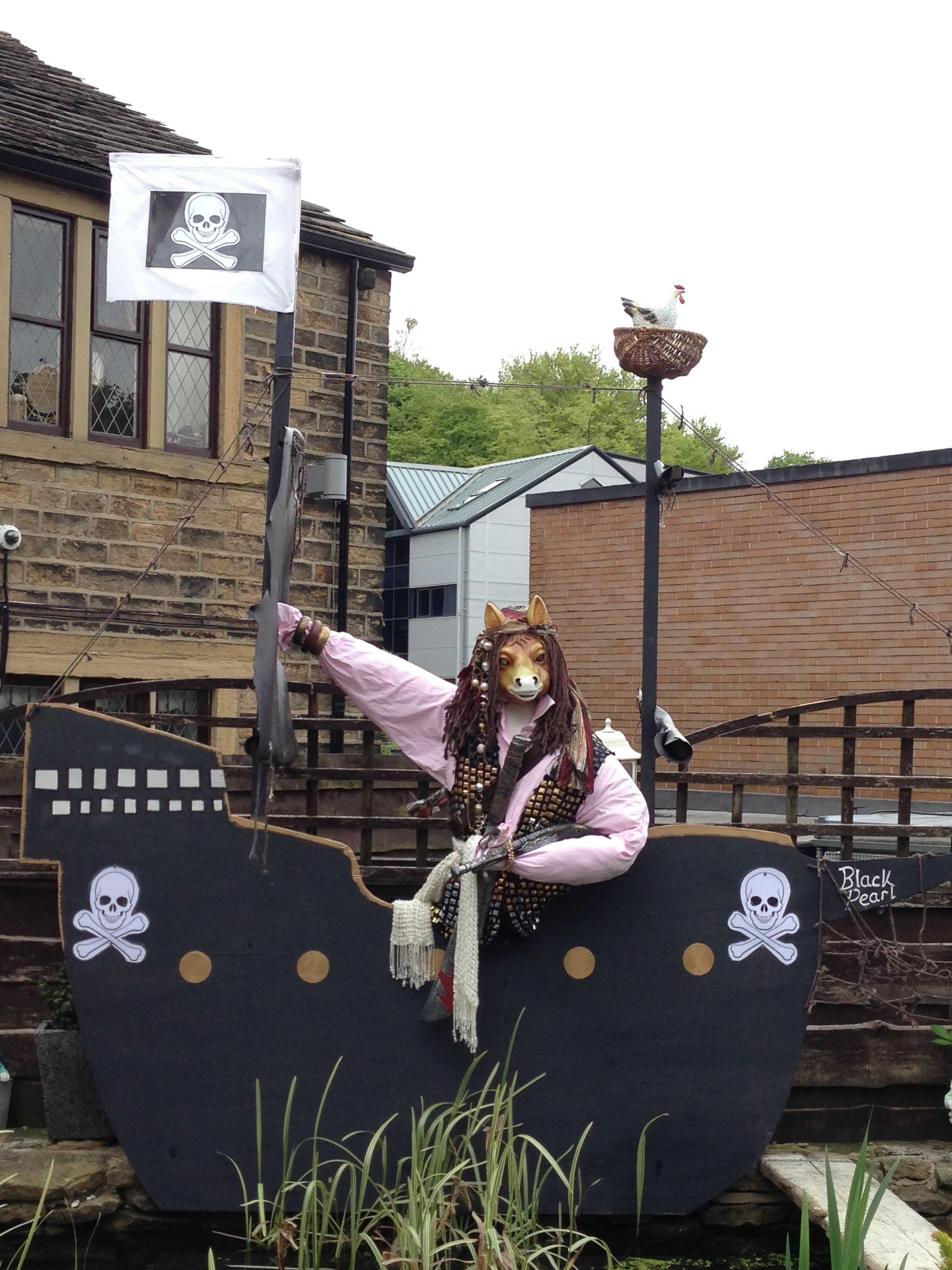 all aboard from donkey scarecrow trail saddleworth