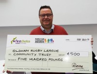 £500 ROCA boost for Oldham RLFC Community Trust