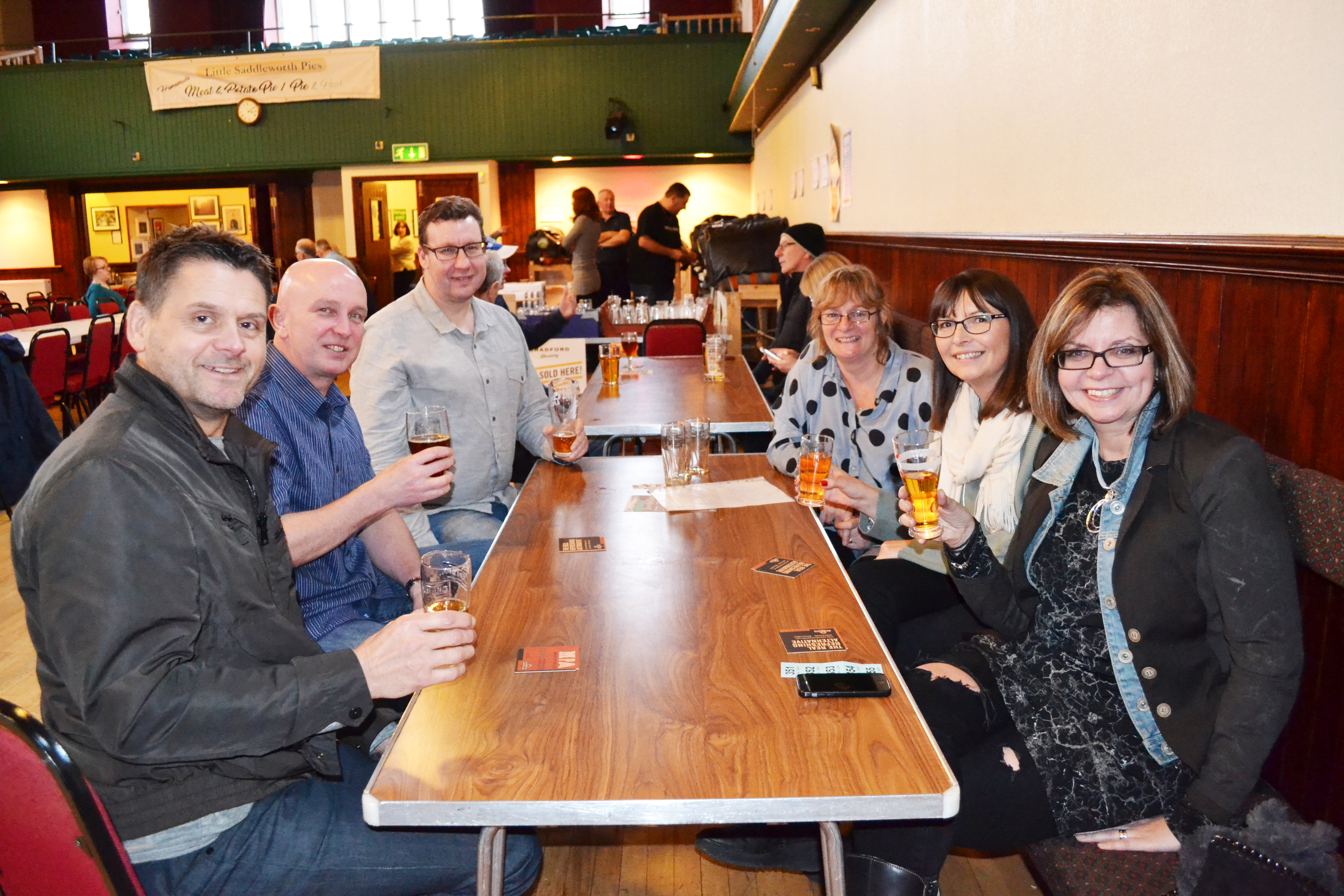 Guests enjoying the beers at the Festival