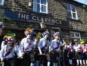 Earlsdon Morris Men dancing at The Clarence