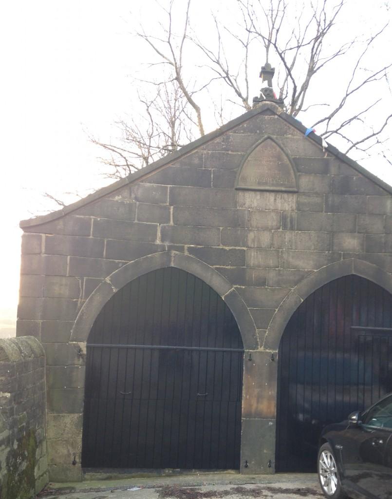 p17 St Chad garage Uppermill