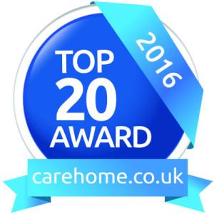 p18 stoneswood care home 2016 award logo